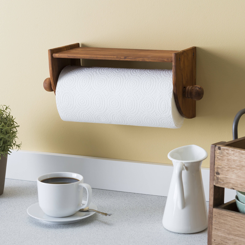 Red Barrel Studio Wall Under Cabinet Mounted Paper Towel Holder Wayfair