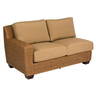 Saddleback Left Arm Sectional Piece with Cushions