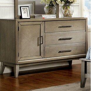 Brayden Studio Albarado 3 Drawer Combo Dresser