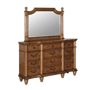 Bowyer 12 Drawer Double Dresser with Mirror