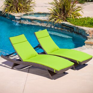 Larry Reclining Chaise Lounge with Cushion (Set of 2) by Brayden Studio