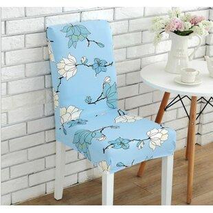 Elegant Box Cushion Dining Chair Slipcover by Winston Porter