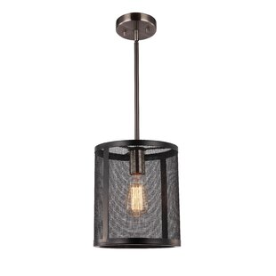 17 Stories Shanda 1-Light Cylinder Pendant