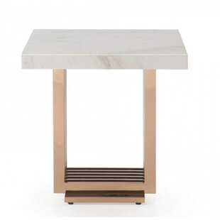 Leiston Modern Marble End Table
