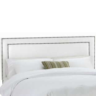 Alligood Nail Button Border Upholstered Panel Headboard