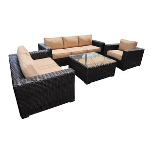 Santa Monica 4 Piece Sofa Set with Sunbrella Cushions