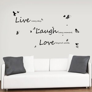 Vivid Live Laugh Love Wall Decal Part 68