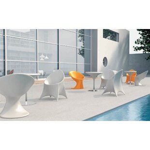 Trendy Stacking Patio Dining Chair with Cushion by 100 Essentials