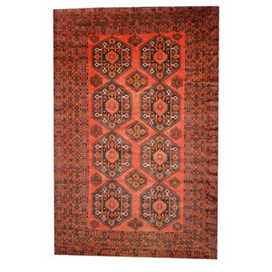 Balouchi Rust/Ivory Indoor/Outdoor Area Rug