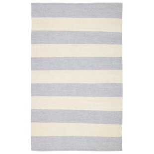 Mcfarland Stripes Handwoven Flatweave Gray/Ivory Indoor/Outdoor Area Rug