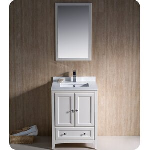 Oxford 24 Single Traditional Bathroom Vanity Set with Mirror