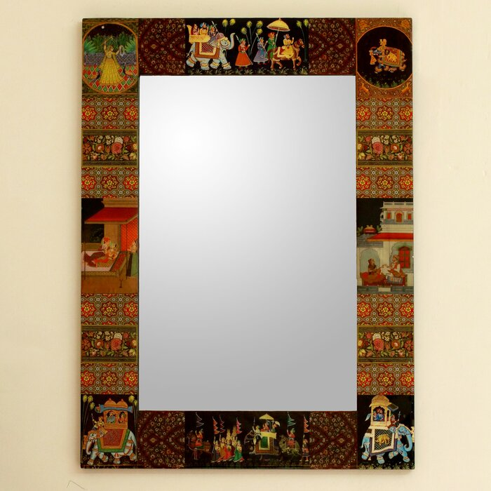 Mughal Hunting Expedition Decoupage Modern \u0026 Contemporary Wall Mirror