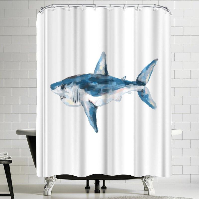 Jetty Printables Mako Shark Shower Curtain