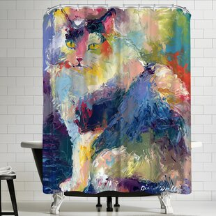 Richard Wallich Cat Shower Curtain By East Urban Home