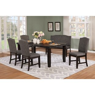 Dutil 6 Piece Solid Wood Dining Set DarHome Co