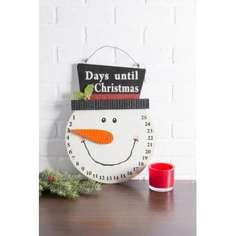 The Holiday Aisle Marielle Santa Days Til Christmas Hanging Sign Reviews Wayfair