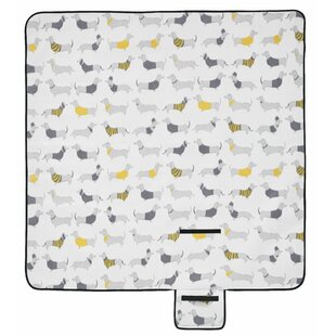 Silly Sausage Dogs Picnic Blanket By Catherine Lansfield