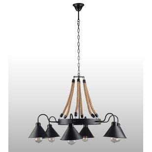 Home Decorating Idea By Three Posts Poynor 6 Light Candle Style Wagon Wheel Chandelier