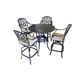 Tre 5 Piece Pub Table Set by S..