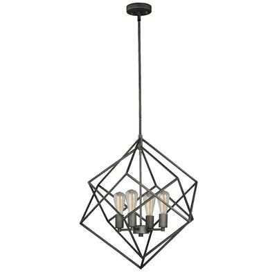 Abigale 4 Light Geometric Chandelier Reviews