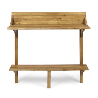 Bushnell Solid Wood Balcony Table by Bay Isle Home Discount