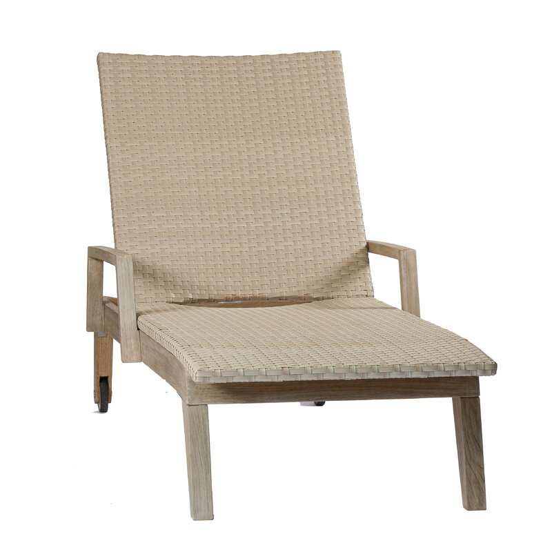 Summit Sun Reclining Teak Chaise Lounge