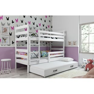 Sarina Bunk Bed With Drawer And Trundle By Harriet Bee