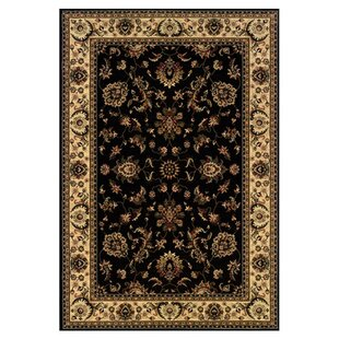 Shelburne Persian Hand Woven Beige/Black Area Rug by Astoria Grand