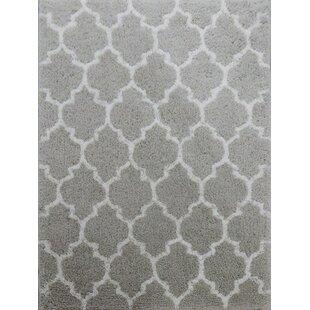 Compare Kareen Hand-Tufted Gray/White Area Rug ByLatitude Run
