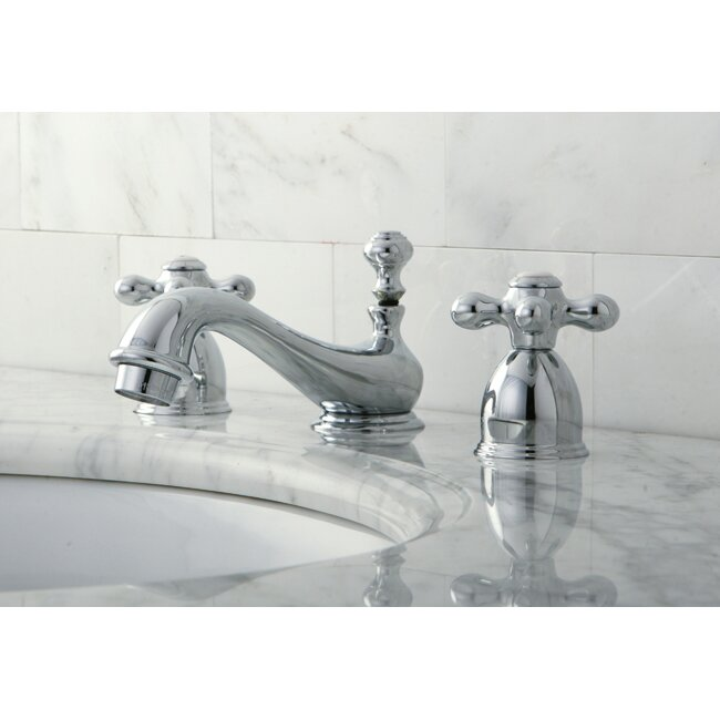 Kingston Brass Restoration Mini Widespread Bathroom Sink Faucet With Brass Pop Up Reviews Wayfair