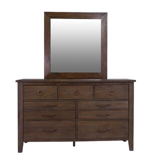 Driftwood 9 Drawer Dresser with Mirror by Panama Jack Home