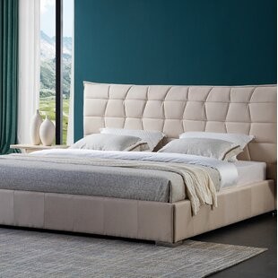 Fran Solid Wood Upholstered Platform Bed