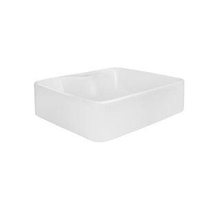 Maykke Rosalynn Ceramic Rectangular Vessel Bathroom Sink