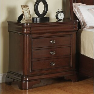 Shray 3 Drawer Nightstand