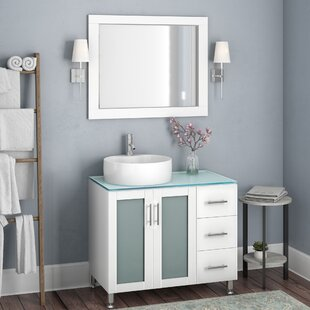 Cartert 36 Single Vanity Set with Mirror By Wade Logan
