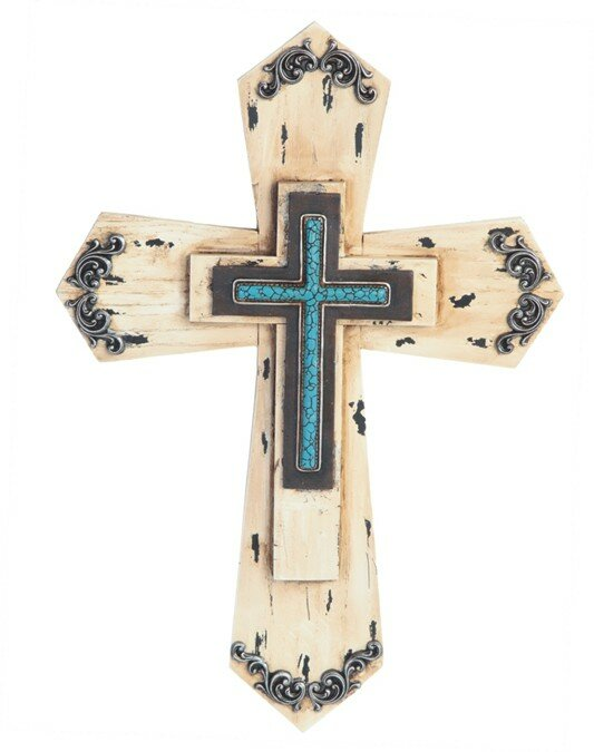 Wooden Cross Wall Décor