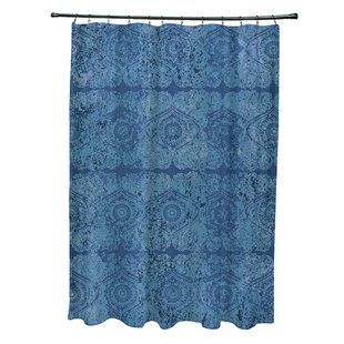 Bungalow Rose Soluri Patina Geometric Print Shower Curtain