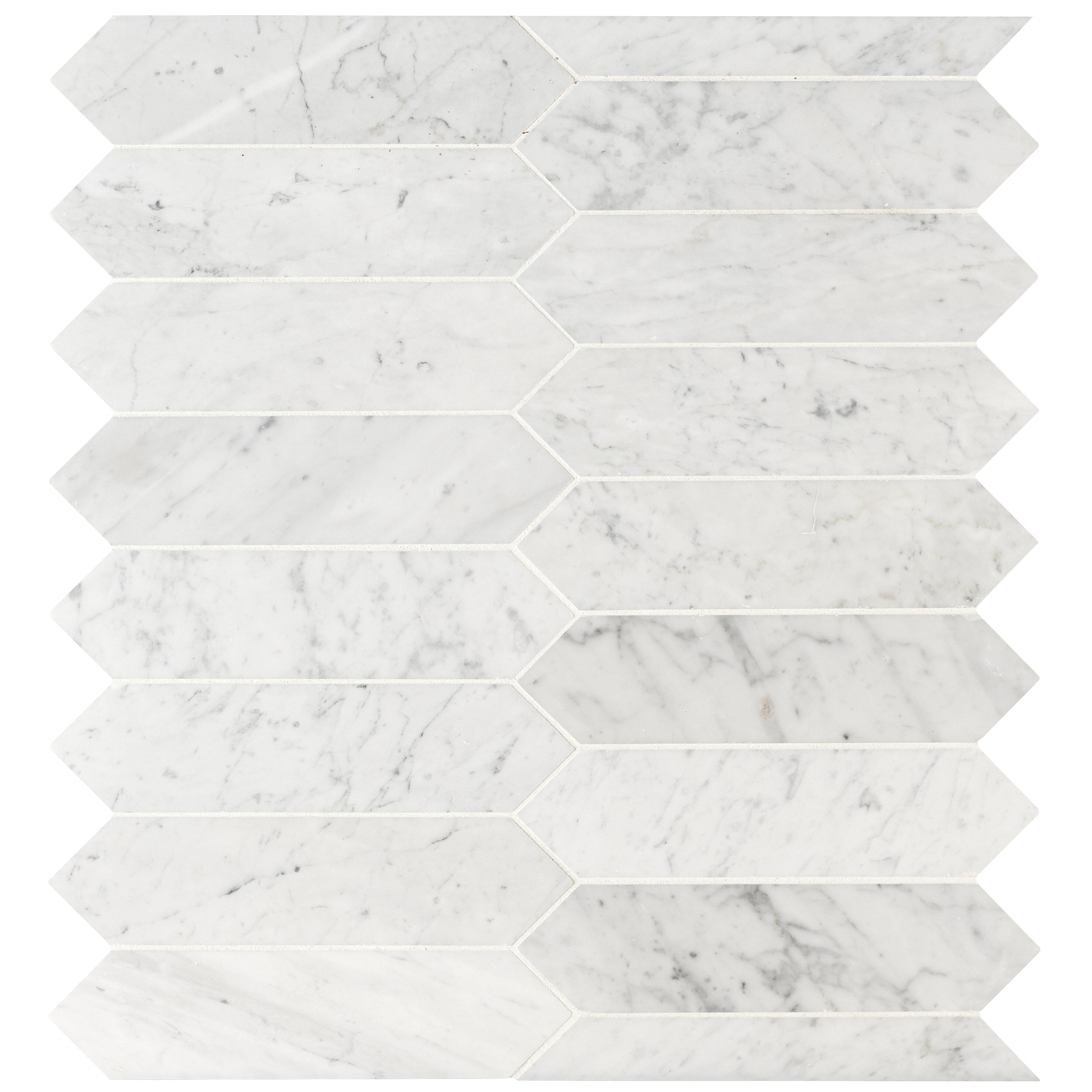 Msi Picket 3 X 12 Marble Mosaic Tile Wayfair