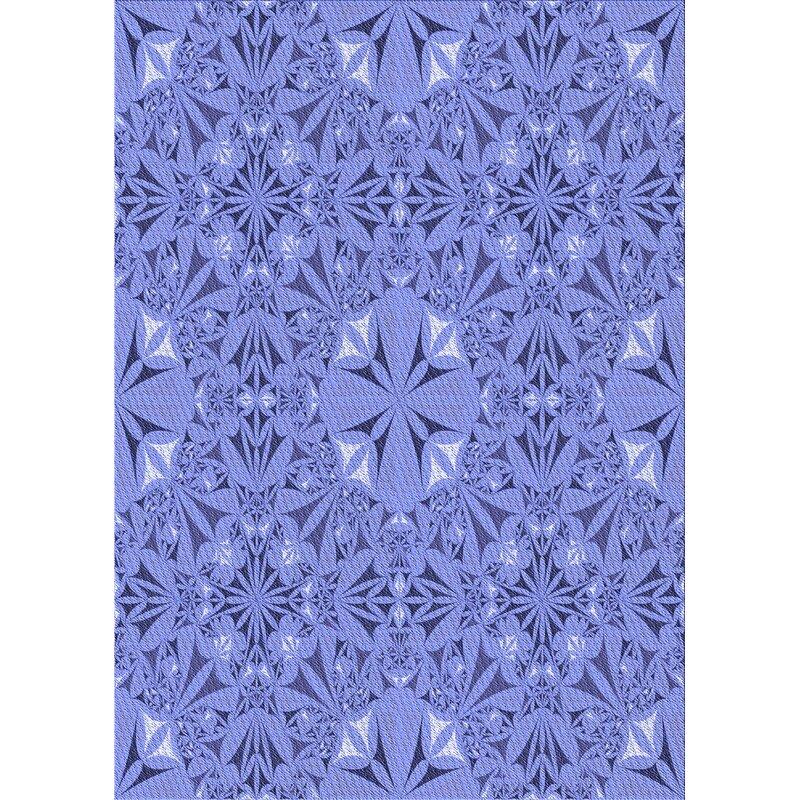 East Urban Home Oriental Wool Violet Area Rug Wayfair