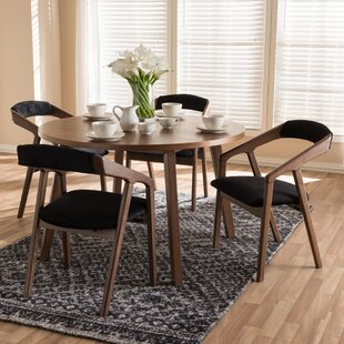 Averi Mid Century Modern 5 Piece Breakfast Nook Dining Set
