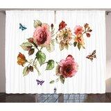 Flower Print Curtains Wayfair