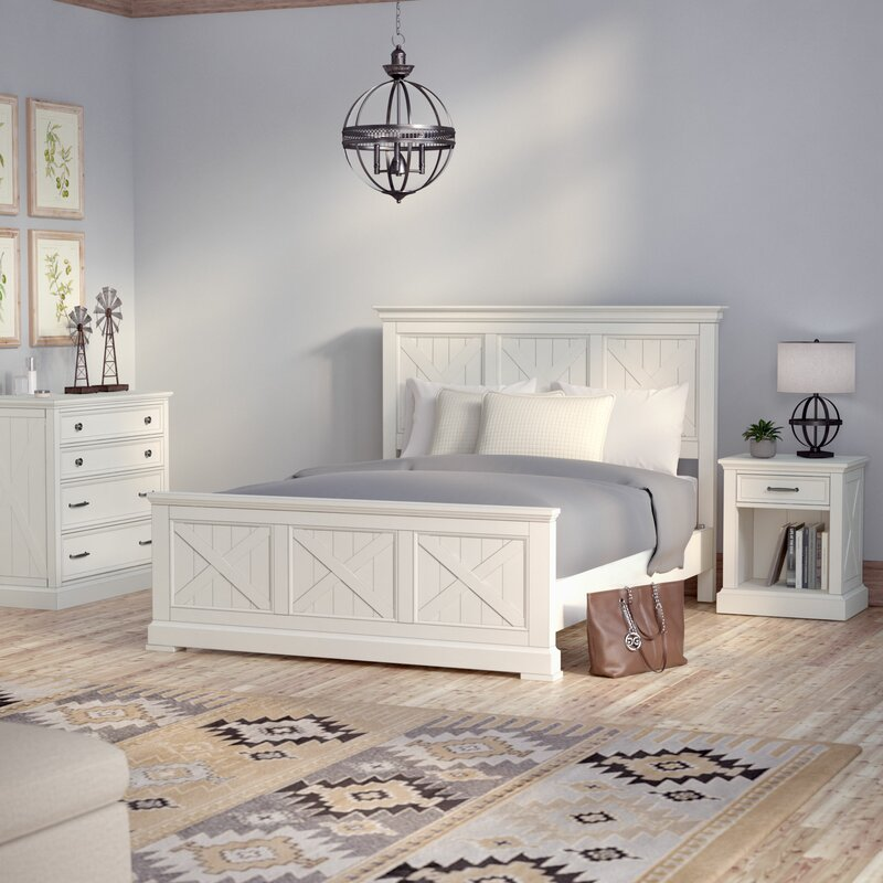 Laurel Foundry Modern Farmhouse Ryles Panel 3 Piece Bedroom Set ...
