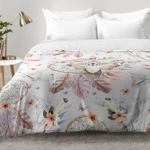 Bohemian Dreamcatcher and Skull Floral Comforter Set