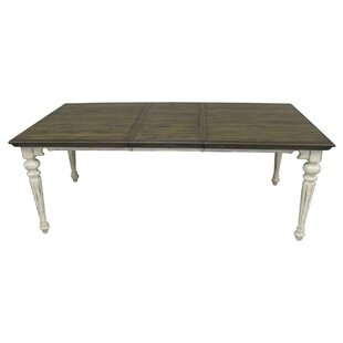 Thibaut Extendable Solid Wood Dining Table One Allium Way