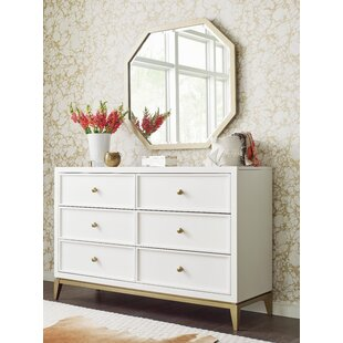 Chelsea 6 Drawer Double Dresser with Mirror by Rachael Ray Home