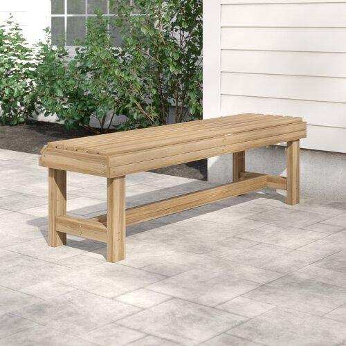 Gartenbank Carrabelle aus Holz - Foto 1