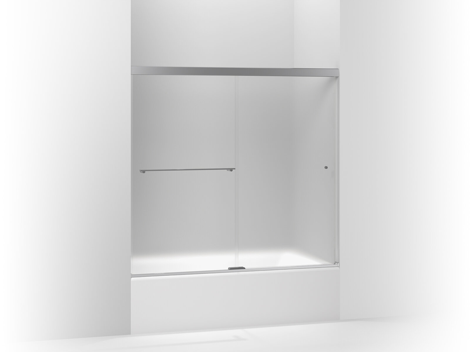 Kohler Revel Sliding Bath Door 55 5 H X 56 625 59 625 W With 0 3125 Thick Frosted Glass