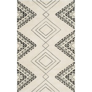 Powell Hand-Tufted Ivory Area Rug