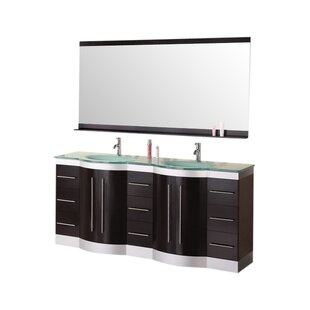 Sirena 72 Double Bathroom Vanity Set with Mirror by dCOR design