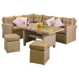 Canora Grey Baysden 4 Piece Rattan Sofa Set with Cushions